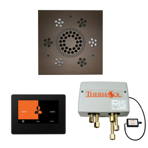 The Wellness Shower Package with ThermaTouch by ThermaSol 7 inch square antique nickel