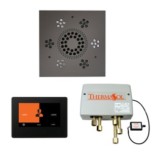 The Wellness Shower Package with ThermaTouch by ThermaSol 7 inch square black nickel