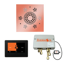 Load image into Gallery viewer, The Wellness Shower Package with ThermaTouch by ThermaSol 7 inch square copper