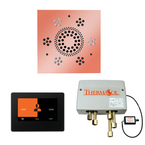 The Wellness Shower Package with ThermaTouch by ThermaSol 7 inch square copper