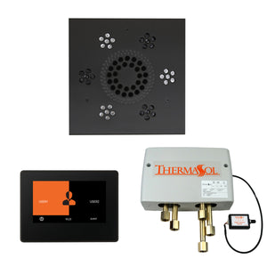 The Wellness Shower Package with ThermaTouch by ThermaSol 7 inch square matte black
