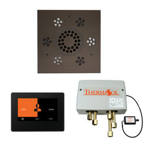 The Wellness Shower Package with ThermaTouch by ThermaSol 7 inch square oil rubbed bronze