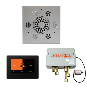 The Wellness Shower Package with ThermaTouch by ThermaSol 7 inch square satin chrome
