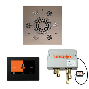 The Wellness Shower Package with ThermaTouch by ThermaSol 7 inch square satin nickel