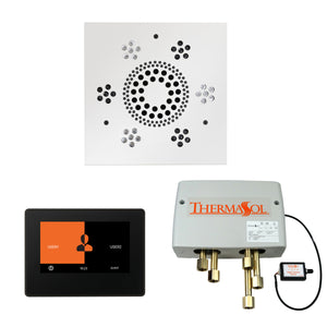 The Wellness Shower Package with ThermaTouch by ThermaSol 7 inch square white