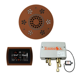 The Wellness Shower Package with SignaTouch Trim Upgraded by ThermaSol round antique copper