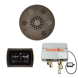 The Wellness Shower Package with SignaTouch Trim Upgraded by ThermaSol round antique nickel