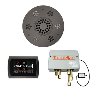 The Wellness Shower Package with SignaTouch Trim Upgraded by ThermaSol round black nickel