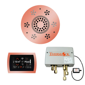 The Wellness Shower Package with SignaTouch Trim Upgraded by ThermaSol round copper