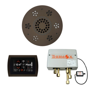 The Wellness Shower Package with SignaTouch Trim Upgraded by ThermaSol round oil rubbed bronze
