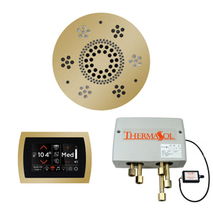 The Wellness Shower Package with SignaTouch Trim Upgraded by ThermaSol round polished brass