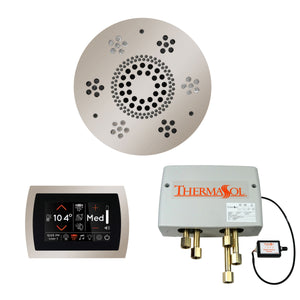 The Wellness Shower Package with SignaTouch Trim Upgraded by ThermaSol round polished nickel