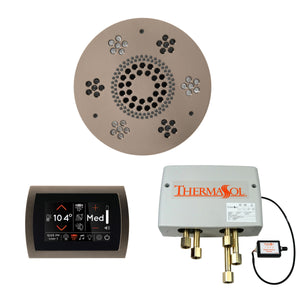 The Wellness Shower Package with SignaTouch Trim Upgraded by ThermaSol round satin nickel