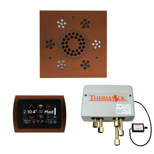 The Wellness Shower Package with SignaTouch Trim Upgraded by ThermaSol square antique copper