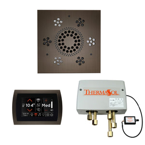 The Wellness Shower Package with SignaTouch Trim Upgraded by ThermaSol square antique nickel