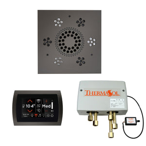 The Wellness Shower Package with SignaTouch Trim Upgraded by ThermaSol square black nickel