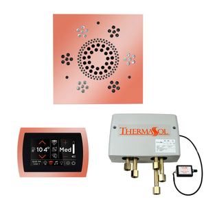 The Wellness Shower Package with SignaTouch Trim Upgraded by ThermaSol square copper