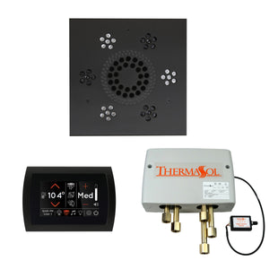 The Wellness Shower Package with SignaTouch Trim Upgraded by ThermaSol square matte black
