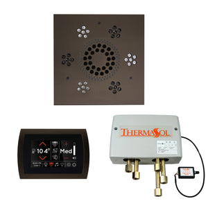 The Wellness Shower Package with SignaTouch Trim Upgraded by ThermaSol square oil rubbed bronze