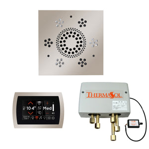 The Wellness Shower Package with SignaTouch Trim Upgraded by ThermaSol square polished nickel