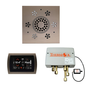 The Wellness Shower Package with SignaTouch Trim Upgraded by ThermaSol square satin nickel