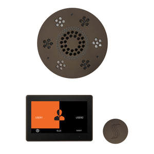 The Wellness Steam Package with ThermaTouch by ThermaSol 10 inch round oil rubbed bronze