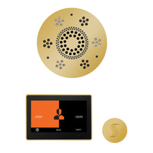 Load image into Gallery viewer, The Wellness Steam Package with ThermaTouch by ThermaSol 10 inch round polished gold