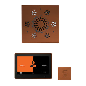 The Wellness Steam Package with ThermaTouch by ThermaSol 10 inch square antique copper