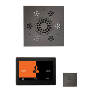 The Wellness Steam Package with ThermaTouch by ThermaSol 10 inch square black nickel