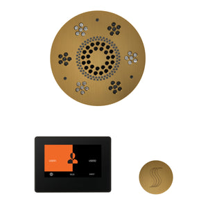 The Wellness Steam Package with ThermaTouch by ThermaSol 7 inch round antique brass
