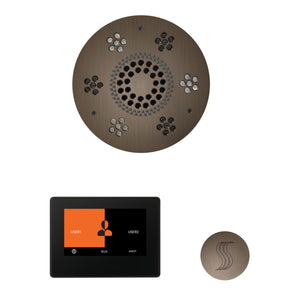 The Wellness Steam Package with ThermaTouch by ThermaSol 7 inch round antique nickel