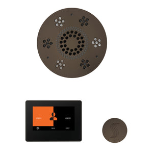The Wellness Steam Package with ThermaTouch by ThermaSol 7 inch round oil rubbed bronze
