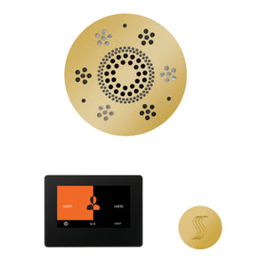 The Wellness Steam Package with ThermaTouch by ThermaSol 7 inch round polished gold