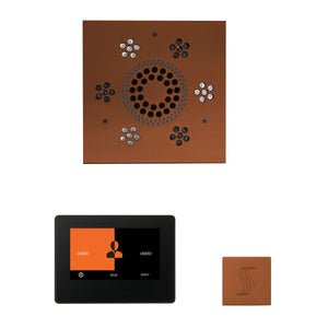 The Wellness Steam Package with ThermaTouch by ThermaSol 7 inch square antique copper