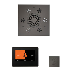 The Wellness Steam Package with ThermaTouch by ThermaSol 7 inch square black nickel