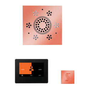 The Wellness Steam Package with ThermaTouch by ThermaSol 7 inch square copper