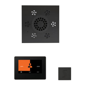 The Wellness Steam Package with ThermaTouch by ThermaSol 7 inch square matte black