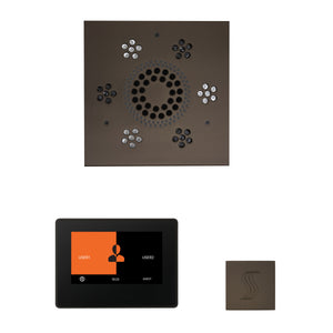 The Wellness Steam Package with ThermaTouch by ThermaSol 7 inch square oil rubbed bronze