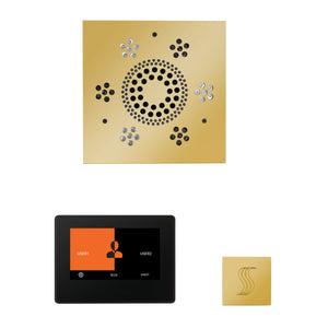 The Wellness Steam Package with ThermaTouch by ThermaSol 7 inch square polished gold