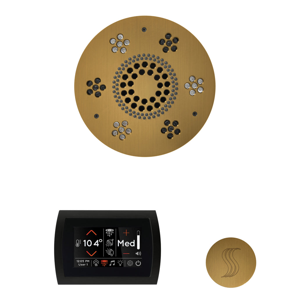 The Wellness Steam Package with SignaTouch by ThermaSol round antique brass