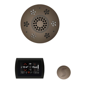 The Wellness Steam Package with SignaTouch by ThermaSol round antique nickel