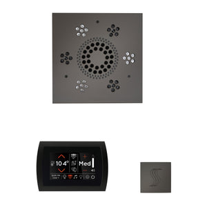 The Wellness Steam Package with SignaTouch by ThermaSol square black nickel
