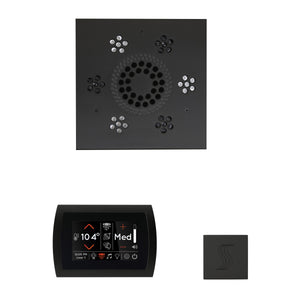 The Wellness Steam Package with SignaTouch by ThermaSol square matte black