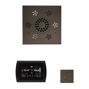 The Wellness Steam Package with SignaTouch by ThermaSol square oil rubbed bronze
