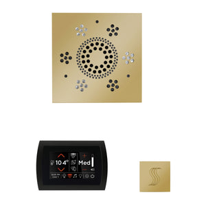 The Wellness Steam Package with SignaTouch by ThermaSol square polished brass
