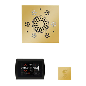 The Wellness Steam Package with SignaTouch by ThermaSol square polished gold