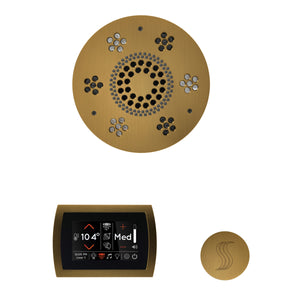 The Wellness Steam Package with SignaTouch by ThermaSol round antique brass trim upgraded