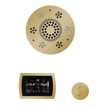 Load image into Gallery viewer, The Wellness Steam Package with SignaTouch by ThermaSol round polished brass trim upgraded