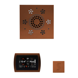 The Wellness Steam Package with SignaTouch by ThermaSol square antique copper trim upgraded