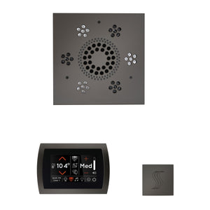 The Wellness Steam Package with SignaTouch by ThermaSol square black nickel trim upgraded